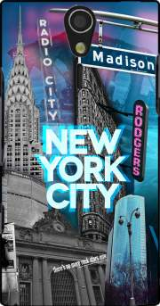 New York City II [blue] Case for Sony Ericsson Xperia S HD