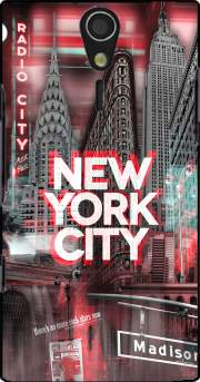 New York City II [red] Case for Sony Ericsson Xperia S HD