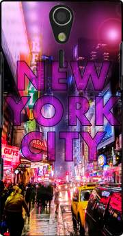 New York City - Broadway Color Case for Sony Ericsson Xperia S HD