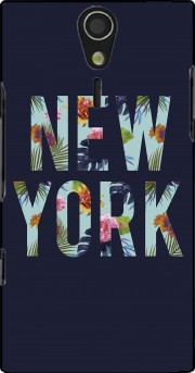 New York Floral Case for Sony Ericsson Xperia S HD