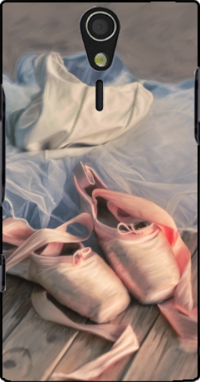 Case Painting ballet shoes and jersey for Sony Ericsson Xperia S HD