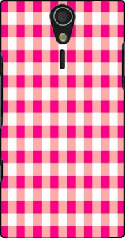 Pink Square Vichy Case for Sony Ericsson Xperia S HD
