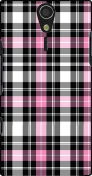 Pink Plaid Case for Sony Ericsson Xperia S HD