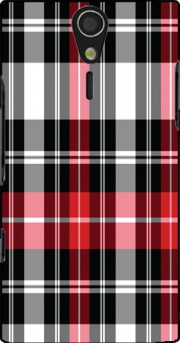 Red Plaid Case for Sony Ericsson Xperia S HD
