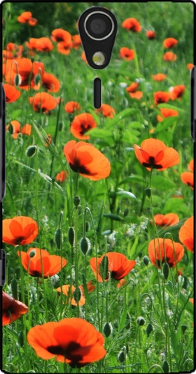 Case POPPY FIELD for Sony Ericsson Xperia S HD