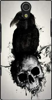 Raven and Skull Case for Sony Ericsson Xperia S HD
