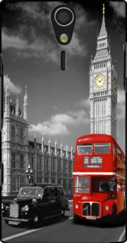 Red bus of London with Big Ben Case for Sony Ericsson Xperia S HD