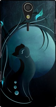Sensual Cat in the Moonlight  Case for Sony Ericsson Xperia S HD