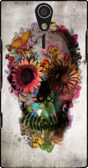 Skull Flowers Gardening Case for Sony Ericsson Xperia S HD