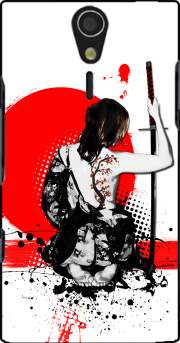 Trash Polka - Female Samurai Case for Sony Ericsson Xperia S HD