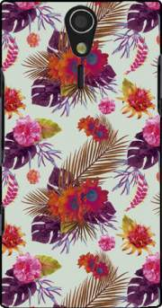 Tropical Floral passion Case for Sony Ericsson Xperia S HD