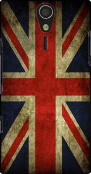 Old-looking British flag Case for Sony Ericsson Xperia S HD