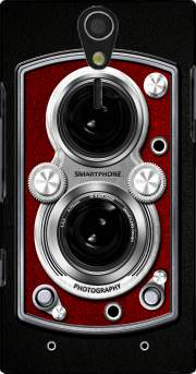 Vintage Camera Red Case for Sony Ericsson Xperia S HD