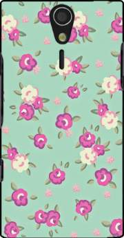 Vintage Roses Pattern Case for Sony Ericsson Xperia S HD