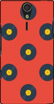 Vynile Music Disco Pattern Sony Ericsson Xperia S HD Case