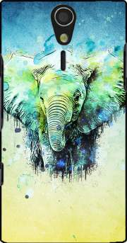 watercolor elephant Sony Ericsson Xperia S HD Case