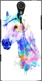 watercolor horse Sony Ericsson Xperia S HD Case