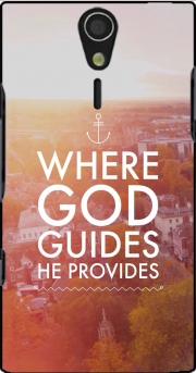 Where God guides he provides Bible Case for Sony Ericsson Xperia S HD