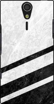 White Striped Marble Sony Ericsson Xperia S HD Case