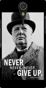 Winston Churcill Never Give UP Case for Sony Ericsson Xperia S HD