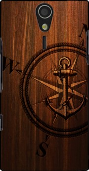 Wooden Anchor Case for Sony Ericsson Xperia S HD