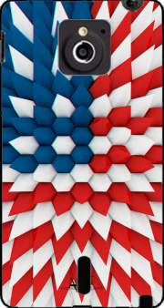 3D Poly USA flag Case for Sony Xperia Sola