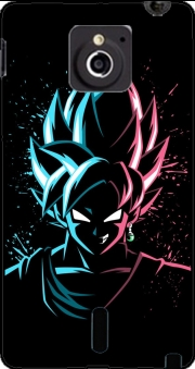 Black Goku Face Art Blue and pink hair Case for Sony Xperia Sola