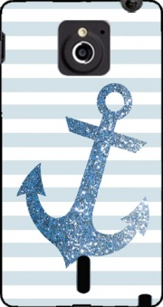 Blue Glitter Mariniere Case for Sony Xperia Sola