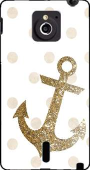 Glitter Anchor and dots in gold Case for Sony Xperia Sola