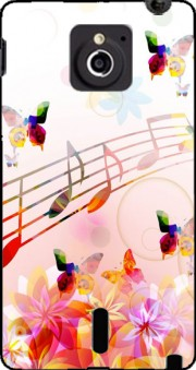 Musical Notes Butterflies Case for Sony Xperia Sola
