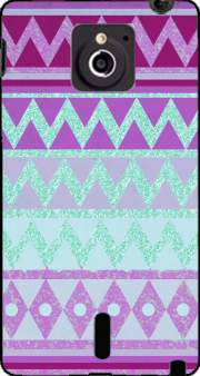 Tribal Chevron in pink and mint glitter Case for Sony Xperia Sola