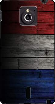 Wooden French Flag Case for Sony Xperia Sola