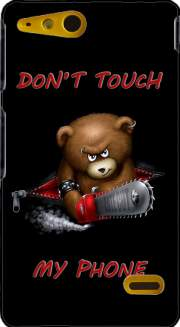 Don't touch my phone Case for Sony Xperia Go