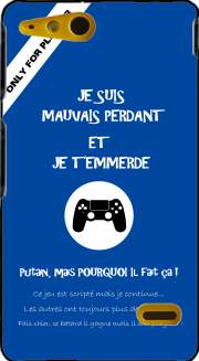 Mauvais perdant - Bleu Playstation Case for Sony Xperia Go