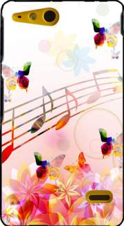 Musical Notes Butterflies Case for Sony Xperia Go
