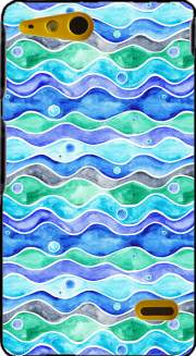 Ocean Pattern Case for Sony Xperia Go