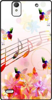 Musical Notes Butterflies Case for Sony Xperia C4