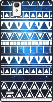 Tribal Aztec Pattern Blue Case for Sony Xperia C4
