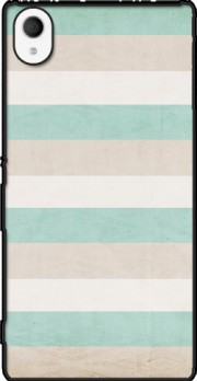 aqua and sand stripes Case for Sony Xperia M4 Aqua