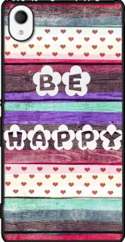 Be Happy Hippie Case for Sony Xperia M4 Aqua