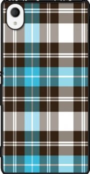 Blue Plaid Case for Sony Xperia M4 Aqua