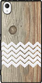 Chevron on wood Case for Sony Xperia M4 Aqua