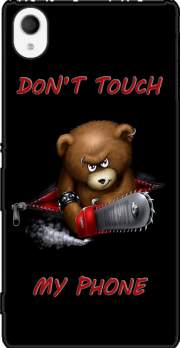 Don't touch my phone Case for Sony Xperia M4 Aqua