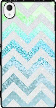 FUNKY CHEVRON BLUE Case for Sony Xperia M4 Aqua