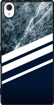 Marble Navy Case for Sony Xperia M4 Aqua