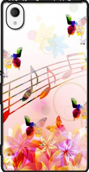 Musical Notes Butterflies Case for Sony Xperia M4 Aqua