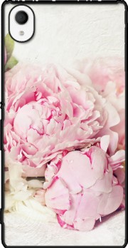 peonies on white Sony Xperia M4 Aqua Case