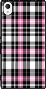 Pink Plaid Case for Sony Xperia M4 Aqua