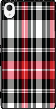 Red Plaid Case for Sony Xperia M4 Aqua