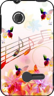 Musical Notes Butterflies Case for Sony Xperia Tipo